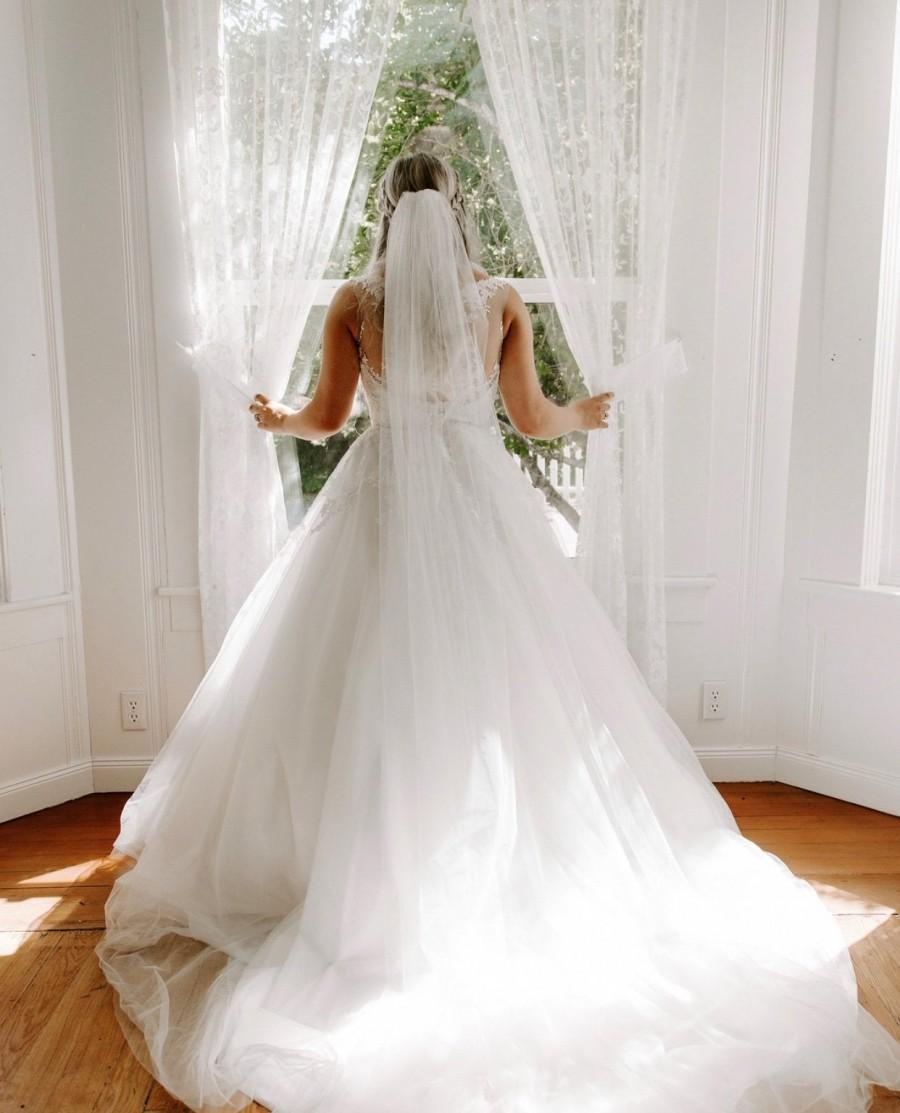 زفاف - BEST PRICE! Soft WIDE Veil Cathedral, Elbow, Waist, Mid Hip, Fingertip, Waltz, Chapel, Floor, Bridal Veil Wedding Veils, Shoulder, Royal