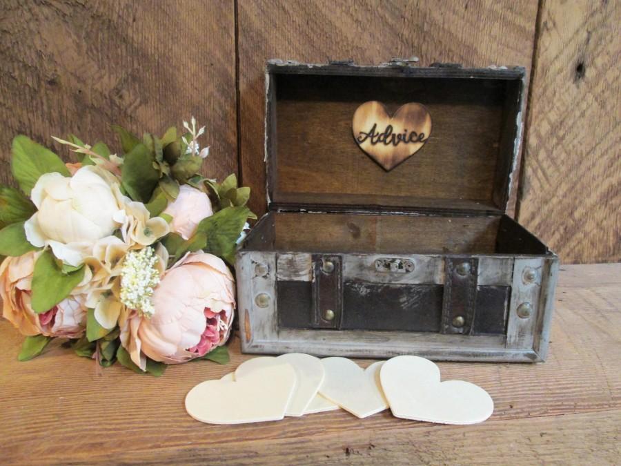 Hochzeit - Advice for the bride and groom, guest book alternative, wedding memory box, wedding time capsule, bridal shower advice box, wedding decor