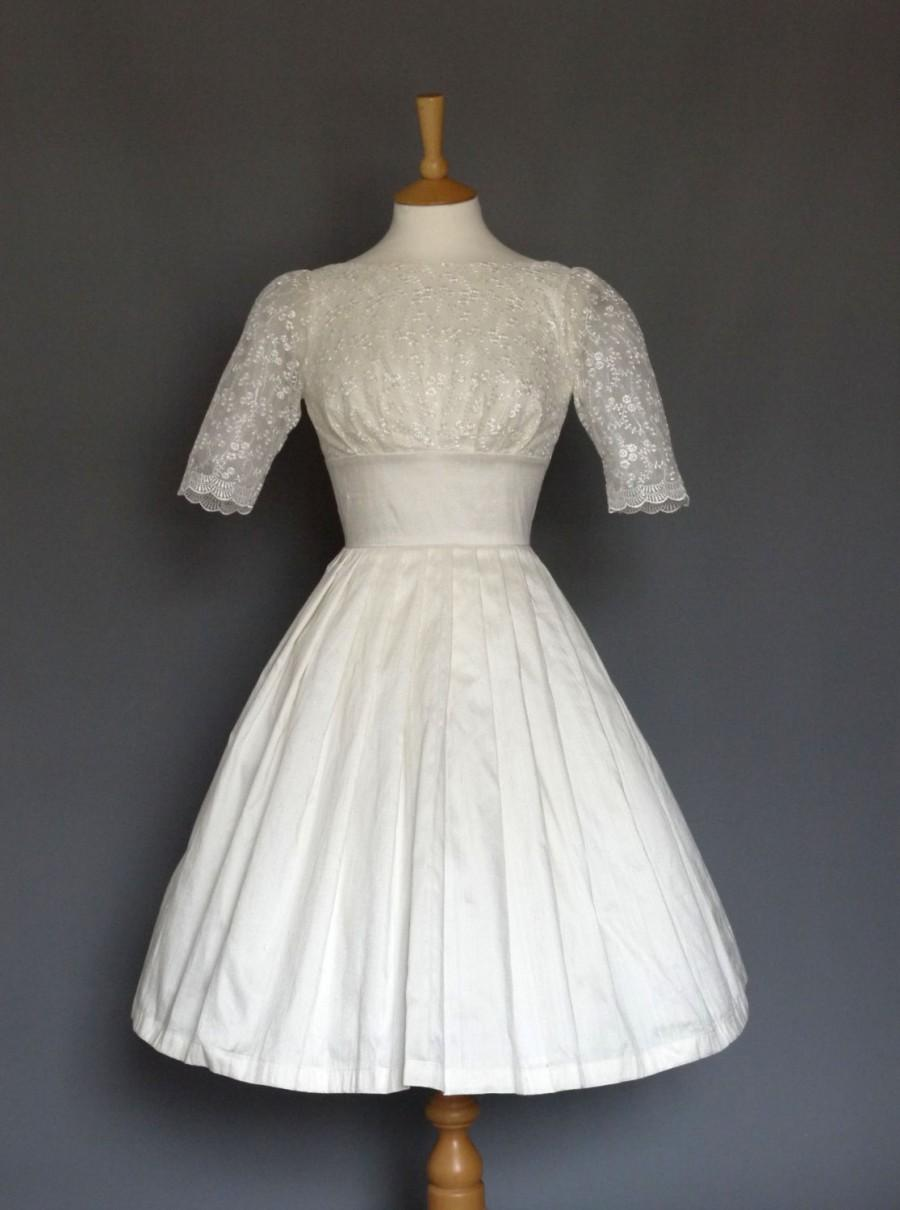 Свадьба - Audrey Wedding Dress in Ivory Silk & Lace - Made by Dig For Victory