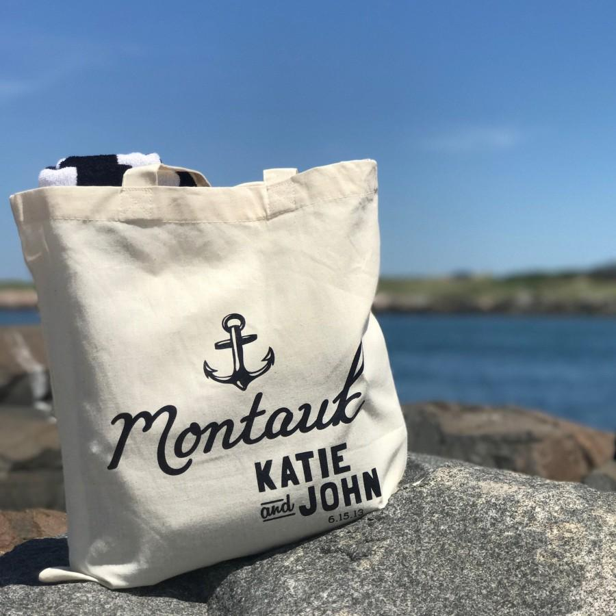 Mariage - Customizable Nautical Anchor Wedding Welcome Tote Bag
