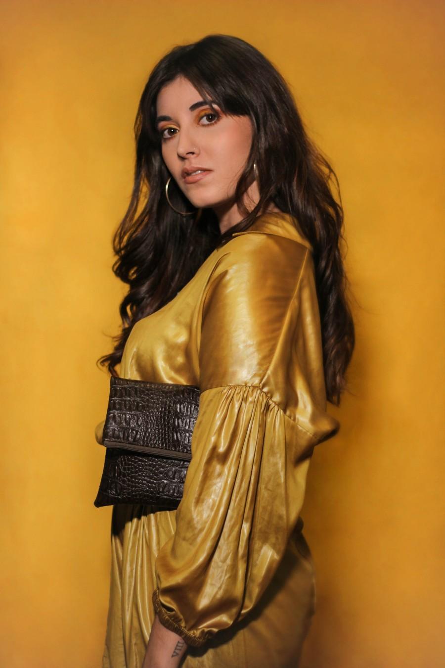 Mariage - Brown clutch purse, crocodile bag, brown clutch bag, women purse, brown clutch bridesmaid, wedding clutch- Figaro