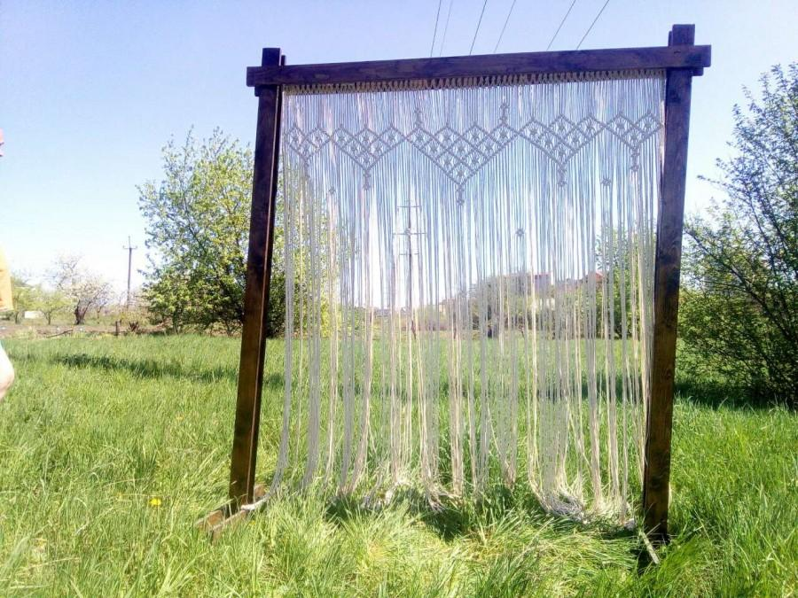 Mariage - Macrame large curtain living room bedroom Wedding Décor Arch Outdoor  Wall Hanging Large Bohemian Window Backdrop Curtain