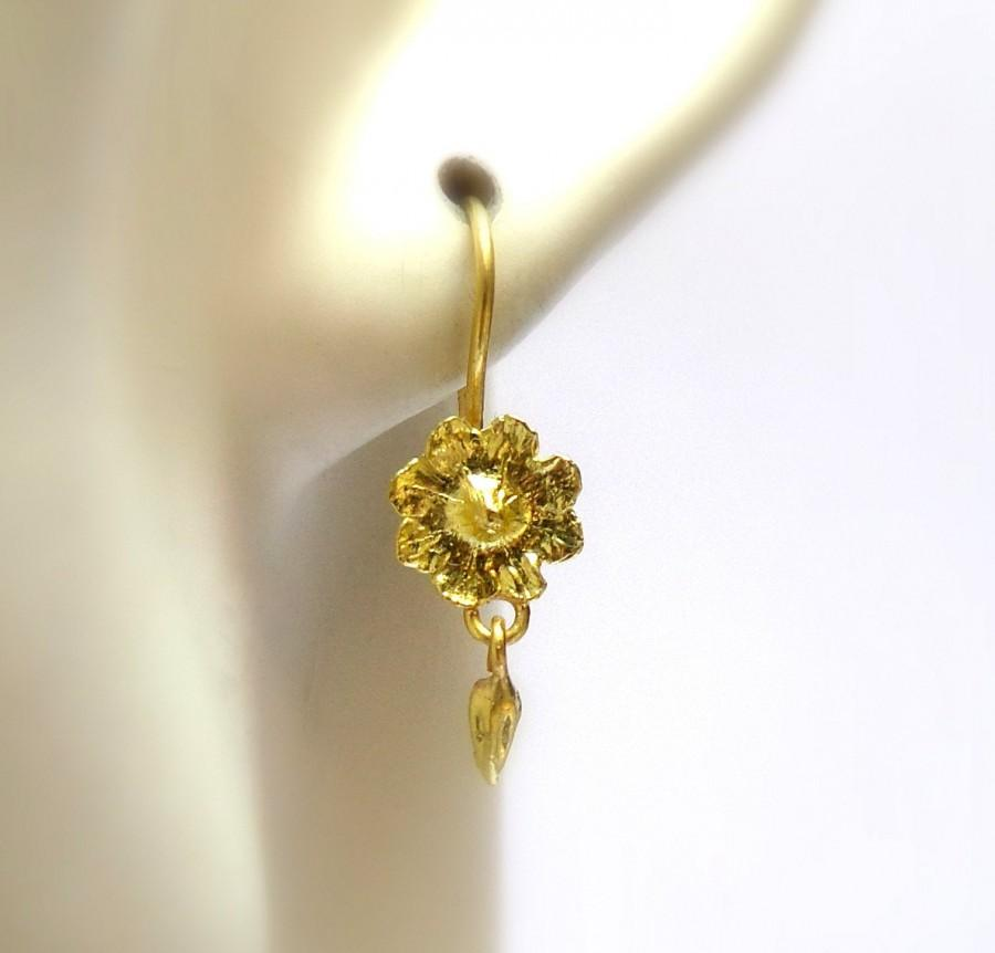 Hochzeit - Loveliness Earrings - gold Earrings - 18k gold earrings - Seeds Collection - Free Shipping!!