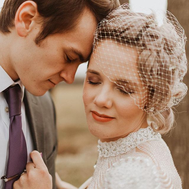 Mariage - Birdcage Wedding Veil, Vintage Veil, Bandeau Veil, Russian Net Veil, French Net Veil, Bird Cage Veil, Face Veil, Cage Veil, Bridal Veil