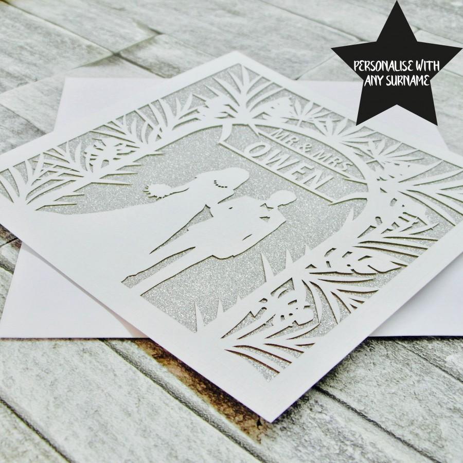 Mariage - Personalised Wedding Card, Wedding Card, Wedding Anniversary Card, Wedding Day Card, Personalized Wedding Card, Newlyweds, Mr & Mrs Card