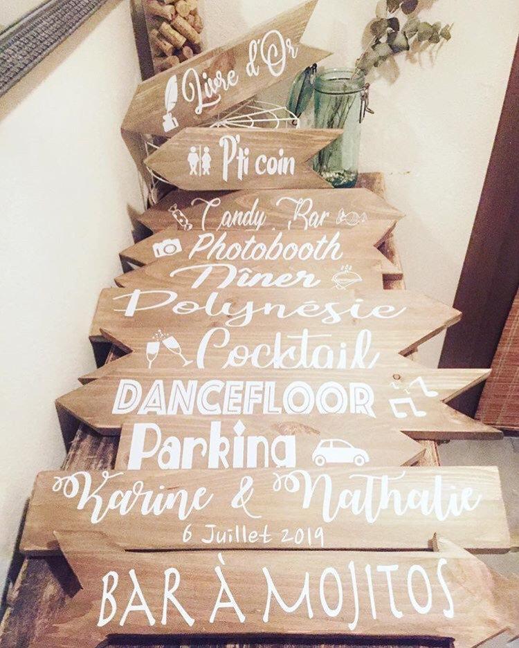 Hochzeit - Sticker for directional arrow