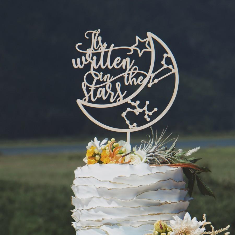 Mariage - It's Written in the Stars Custom Wedding Cake Topper, Zodiac Sign Cake Topper, Astrology Cake Toppers, Zodiac Sign