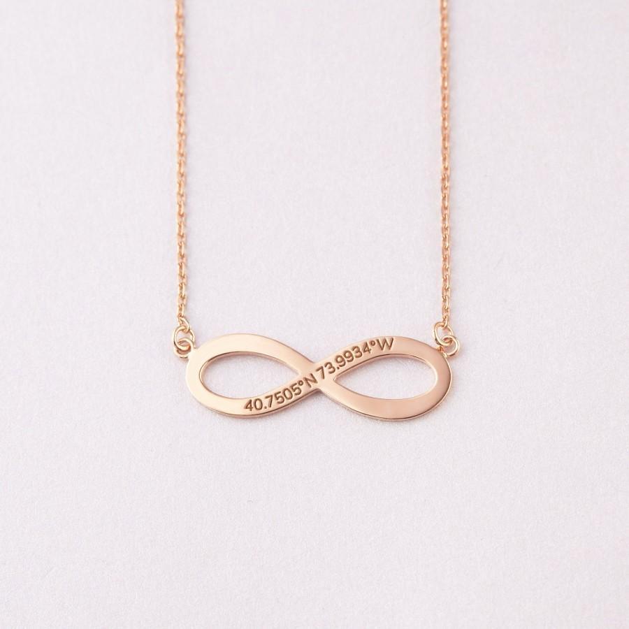زفاف - Coordinates Jewelry • Engagement Necklace • Lat and Lo Necklace • Latitude Necklace • Latitude Jewelry • Wedding Gift • Bridal Shower Gift
