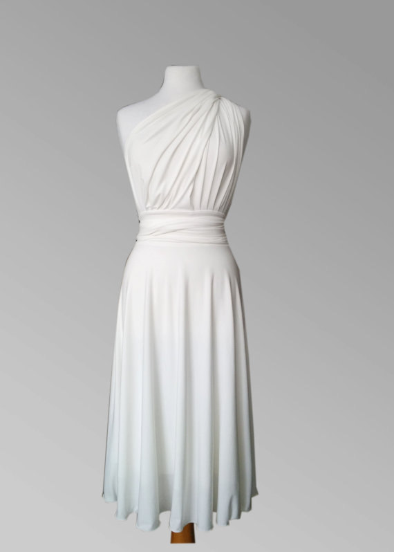Mariage - Bridesmaid  dress , Convertible dress in white color with matching tube top