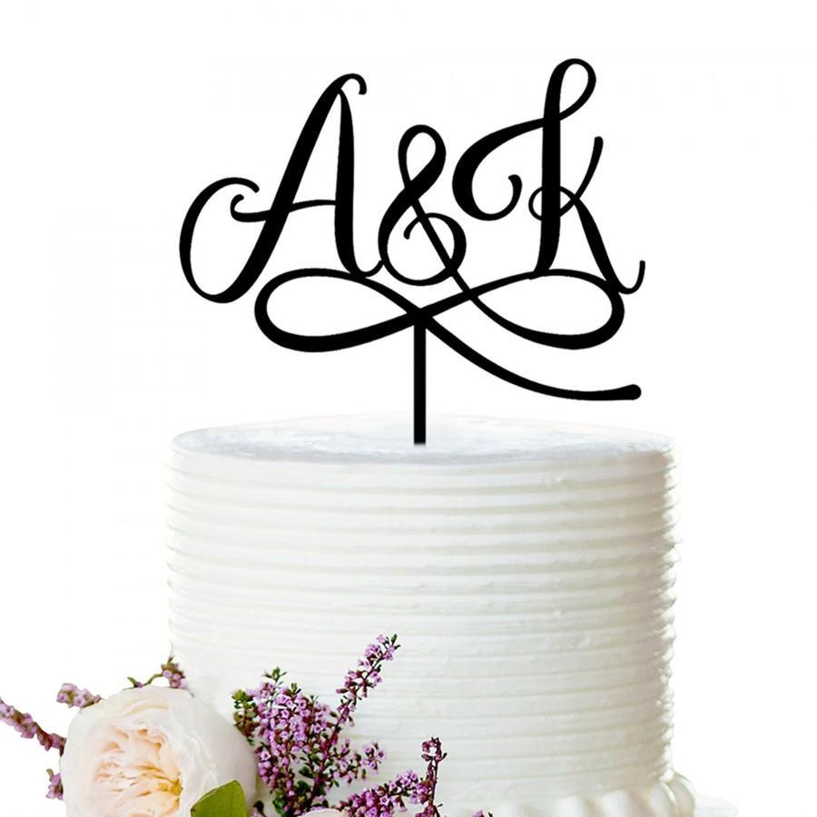 Mariage - Wedding Cake Topper, Wedding Cake Topper Initial, Rustic Wedding Cake Topper, Custom Cake Topper, Bridal Shower Cake Topper, Wedding Topper