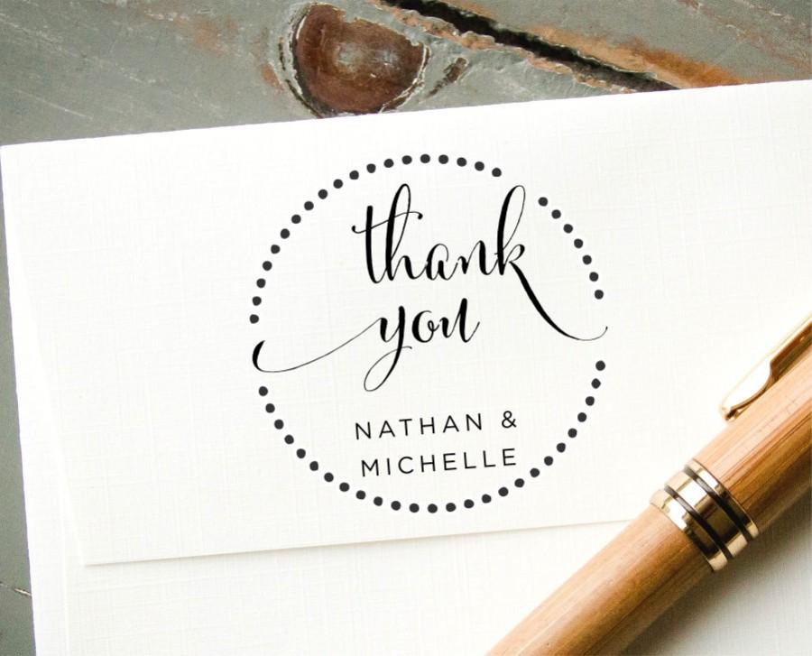 زفاف - Self-Inking Wedding Favor Stamp, Custom Rubber Stamp, Thank You Card Stamp, Bridal Shower Engagement Gift, Wedding Envelope Addressing