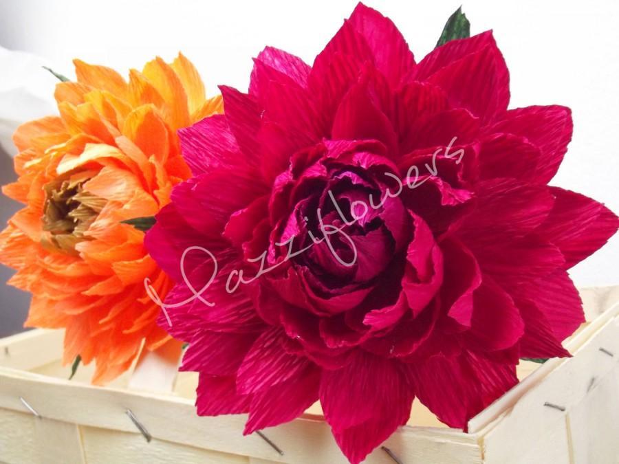 زفاف - Paper flowers,wedding flower,dahlia flowers,5 pcs. flower decorations,bridal flower,paper flower wedding,flowers bridal.