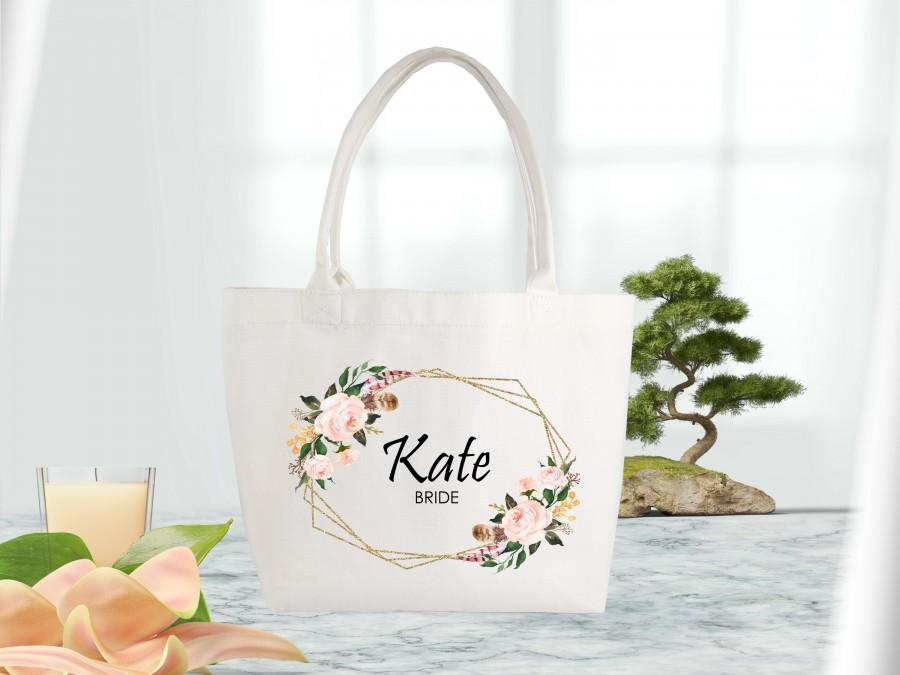 Свадьба - Small Bridesmaid Tote Bags-Wedding Welcome Bag-Bridal Party Bag-Personalized Bridesmaid Bags-Bridal Party gift-Bridesmaid Gifts-Wedding Tote
