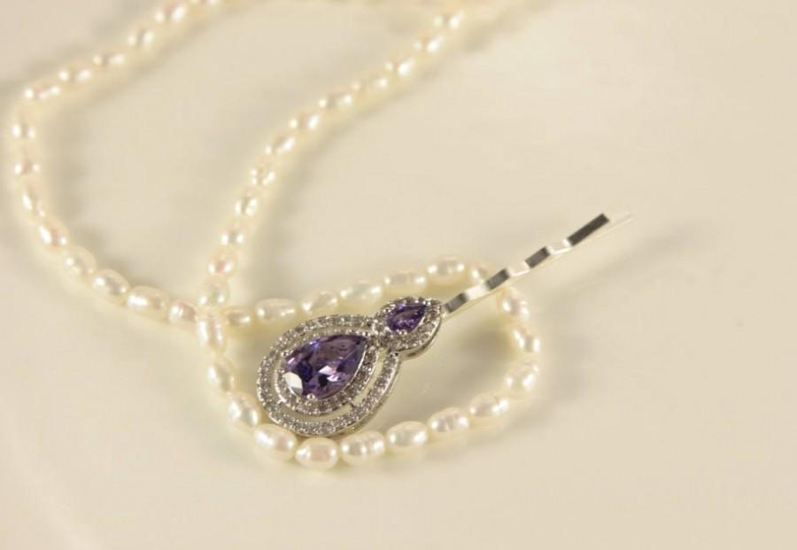 Свадьба - Bridal Hair Accessories, Lavender Hair Piece, Amethyst Hair Clips, Vintage Hair Pins, Lilac Hair Clip, Wedding Hair Pins, Bridal Headpiece
