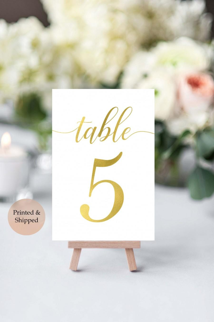 Hochzeit - Gold Table Numbers- Wedding Table Number- Wedding Table Decor- Rustic Table Number- Wedding Number Signs- Table Number Cards- Gold Numbers