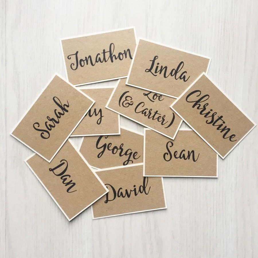 Mariage - Wedding place card - personalized place setting cards - kraft place cards - rustic guest seating cards