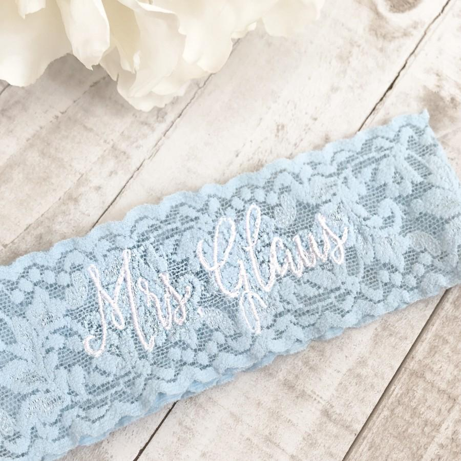 Wedding - Embroidered Wedding garter, something blue, embroidered bridal garter, something blue, custom wedding garters