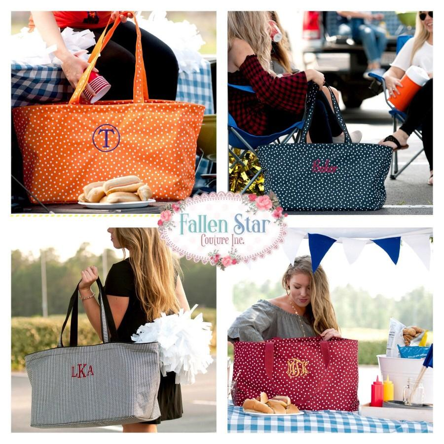 Mariage - Tailgating Tote , Football Mom Tote , Football Stadium Tote , HUGE Beach Tote, Carry All Tote Bag , Personalized Tailgatig Bag