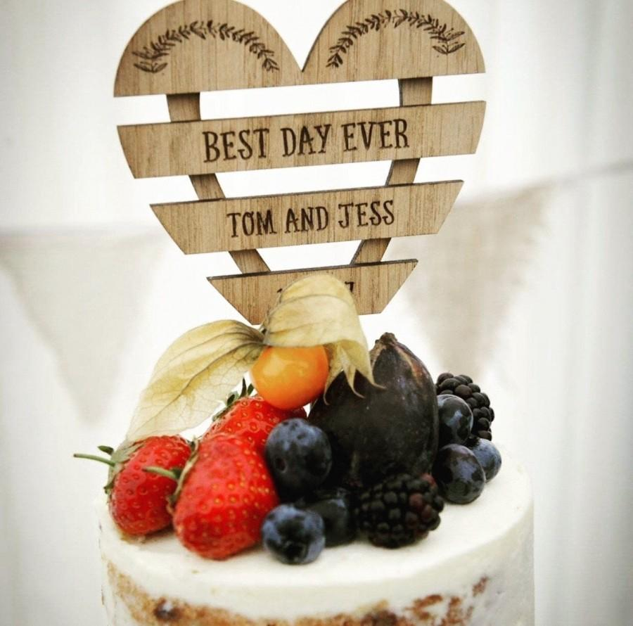 Mariage - Cake topper, wedding cake topper, custom cake topper, cake toppers, rustic cake topper, wedding cake toppers, wedding, mr and mrs CT04