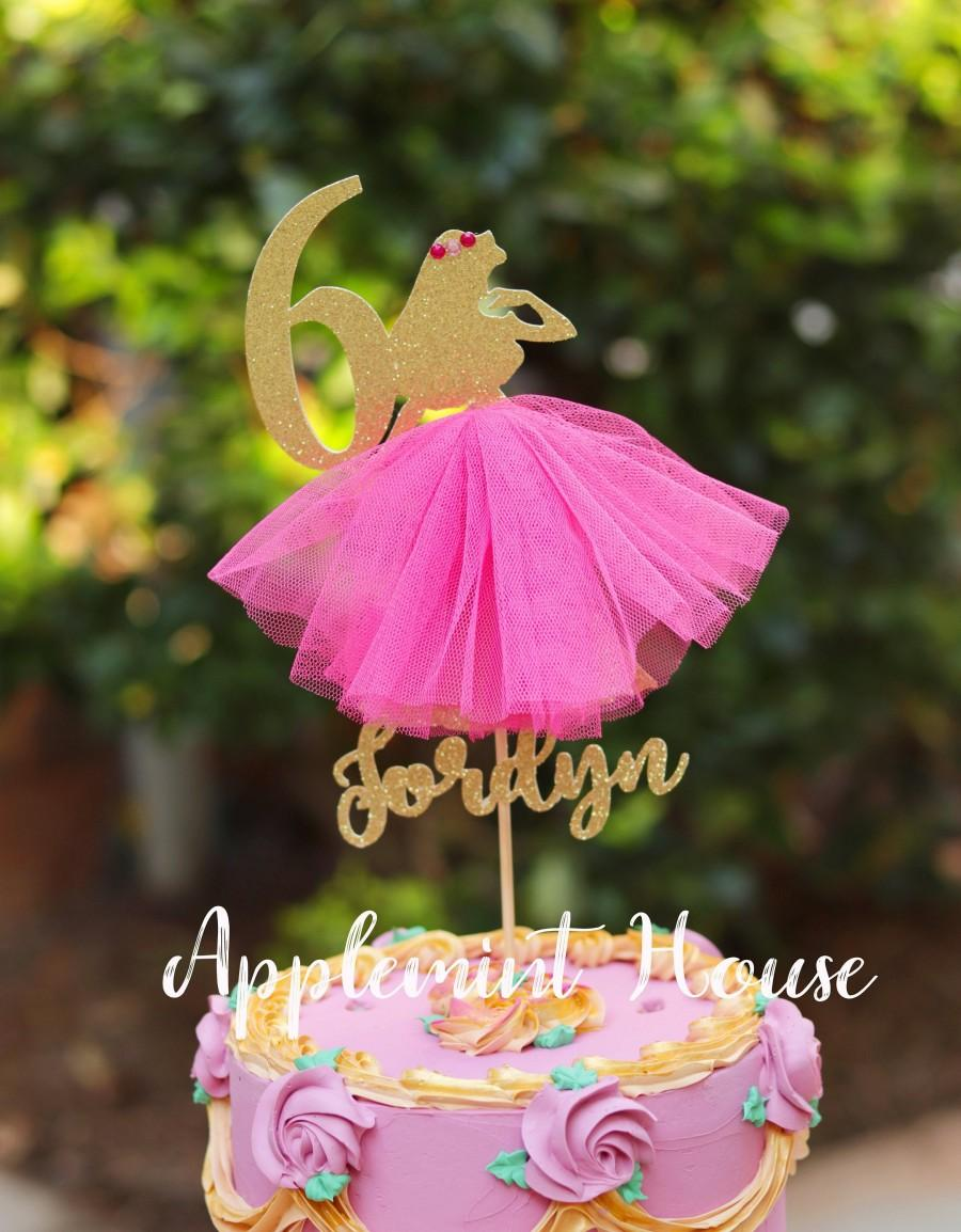 Mariage - Sleeping Beauty Princess Aurora birthday cake topper, Disney Princess Aurora cake topper, Pink  Aurora cake topper with Name and Number