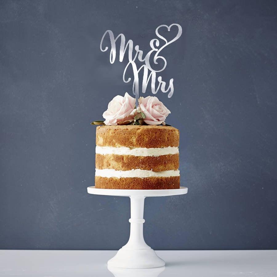 Mariage - MR & MRS Wedding Cake Topper / Gold Acrylic Cake Topper/ Wedding Cake Topper