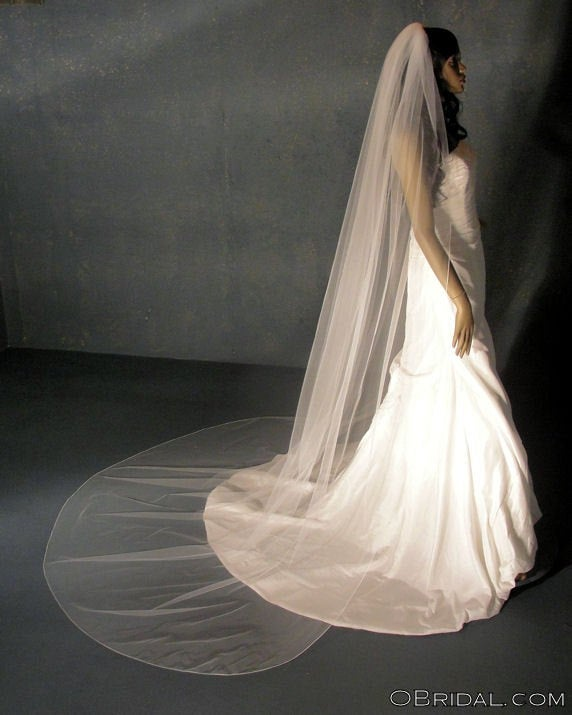 Свадьба - Cathedral Wedding Veil, extra full Classic Bridal veil