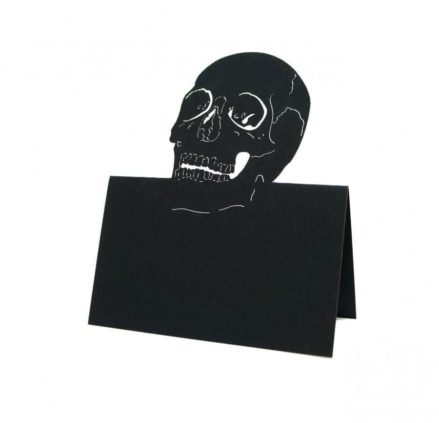 Mariage - Skeleton place cards, Skull Place Cards, Skull escort cards, Halloween Wedding, Skeleton escort card, Wedding place cards, table number card