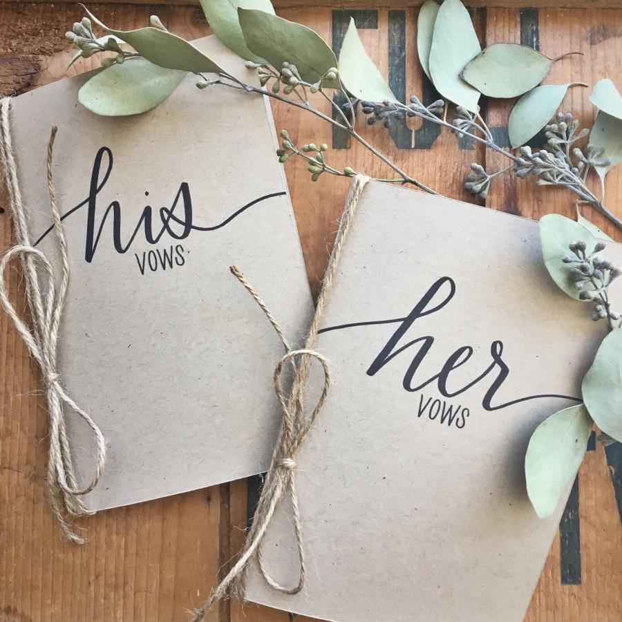 زفاف - His and Her Vow Cards - Vow Card Keepsakes - His and Her Vow Card Set