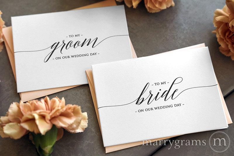 Mariage - Wedding Card to Your Bride or Groom on Your (Our) Wedding Day - Love Note to Future Husband or Wife Card Keepsake Love Note Before I Do CS13