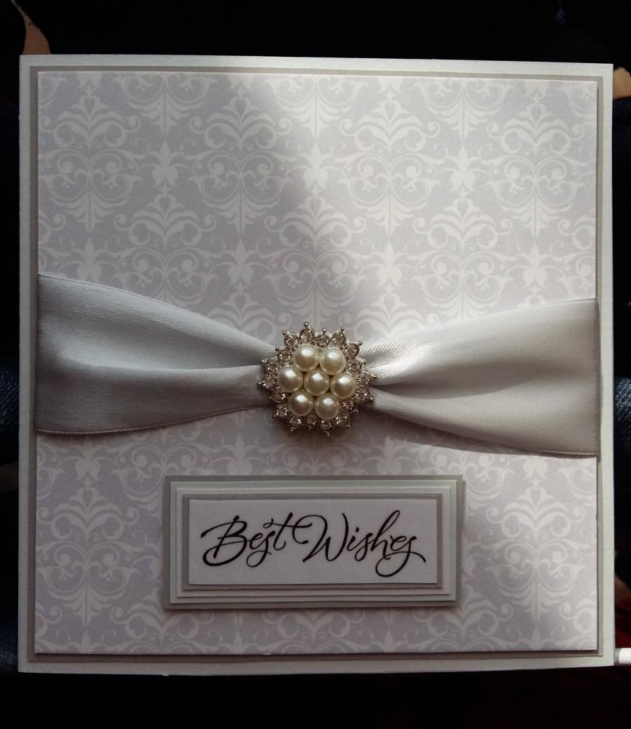 Mariage - Wedding Wishes Card, Wedding Congratulations Card, Handmade Wedding Cards, Congrats on Your Wedding Day, Wedding Wishes, #WED010