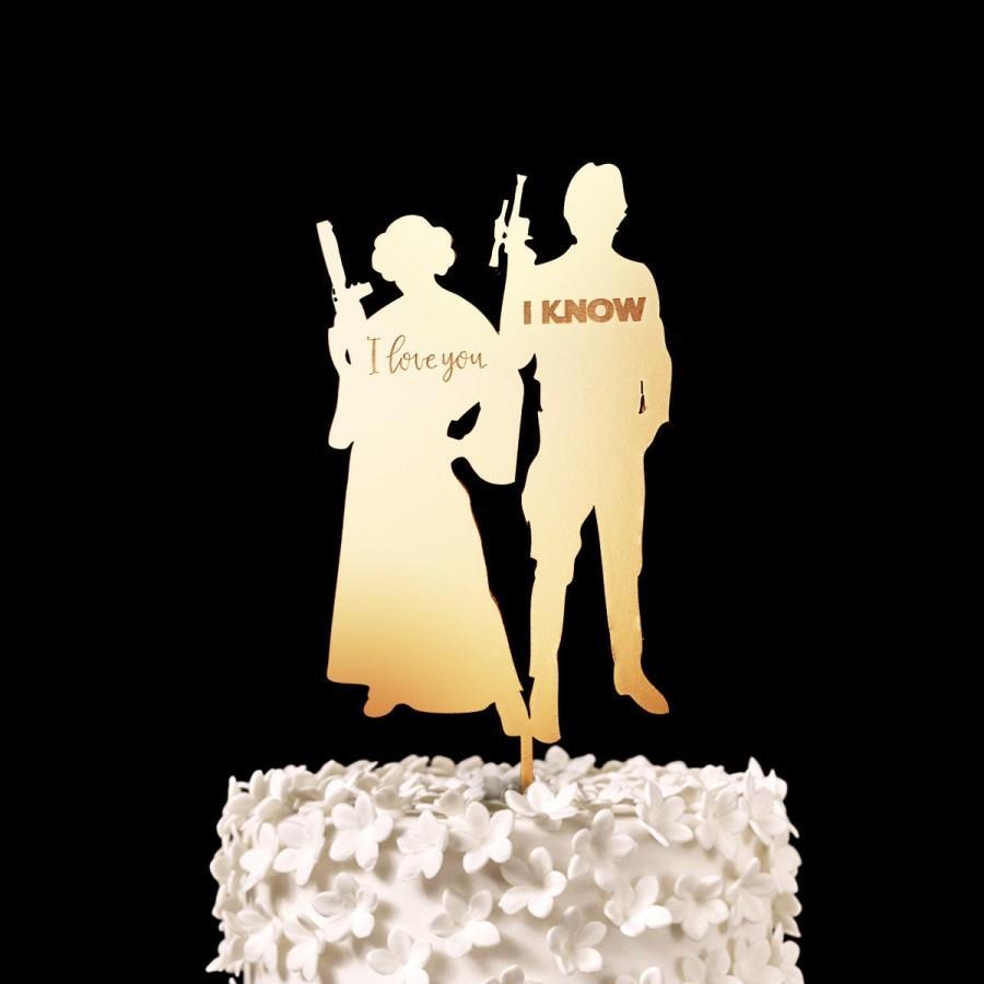 Wedding - I Love You, I Know - Star Wars Wedding Cake Topper, Keepsake Wedding Cake Toppers, Nerd Wedding