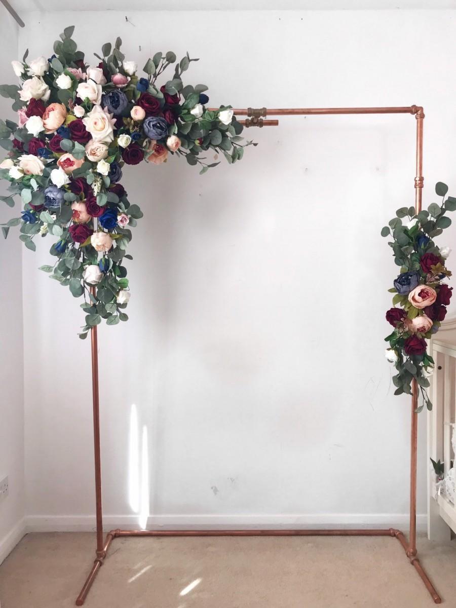 Mariage - Flower arch, Floral Arch, Wedding Arch, Flower swag, Floral swag, Arch swag, Wedding flower arch, Wedding flower arrangement, Silk flowers