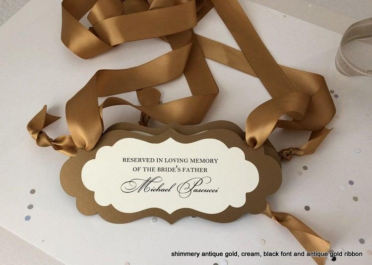 Mariage - In Loving Memory Sign, Memory Wedding Sign, Reserved Seat Sign, Reserved Special Guest Seating, Reserved Seat Sign, Wedding Ceremony Sign
