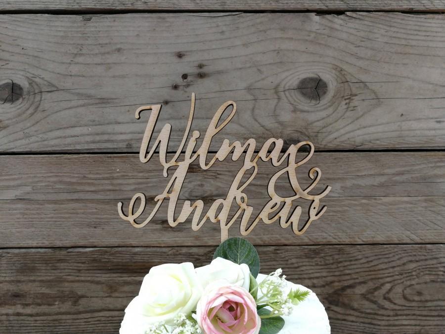 Свадьба - cake topper 'first names' - wedding, cake figurine, decoration
