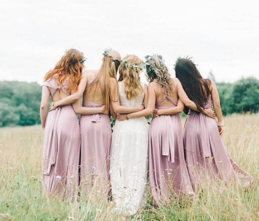 Wedding - Infinity Bridesmaid Dress, Infinity Bridesmaid Dress, Convertible Dress, Long Bridesmaid Dress, Multiway Dress, Convertible Bridesmaid Dress
