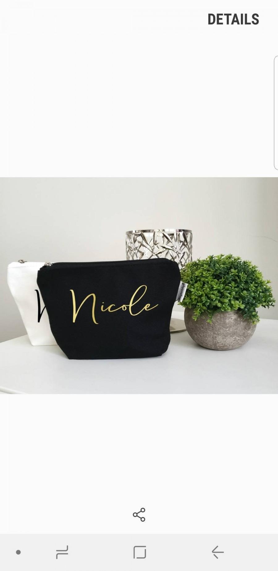 Mariage - Name Makeup Bag
