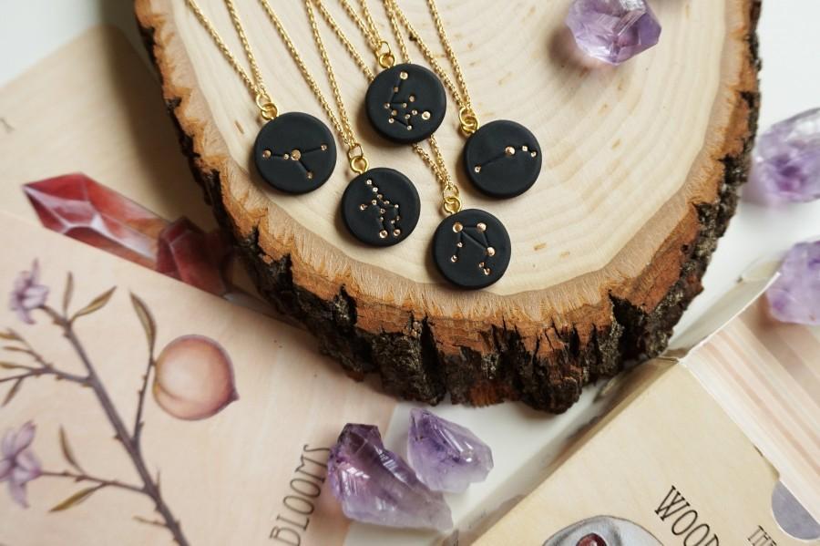 زفاف - Star Sign constellation necklace / Free US Shipping / astrology horoscope zodiac celestial / unique minimalist custom grad gift