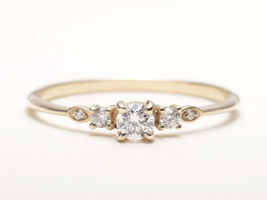 زفاف - Engagement ring / 0.25 CT Diamond Engagement Ring / Engagement Ring for Women / Unique Engagement Ring
