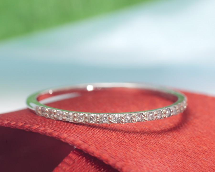 Mariage - Womens Wedding Band / Rings For Women / Wedding Band Women / 14k Gold Wedding Band / Bands Women / Wedding Bands / Eternity Diamond Ring