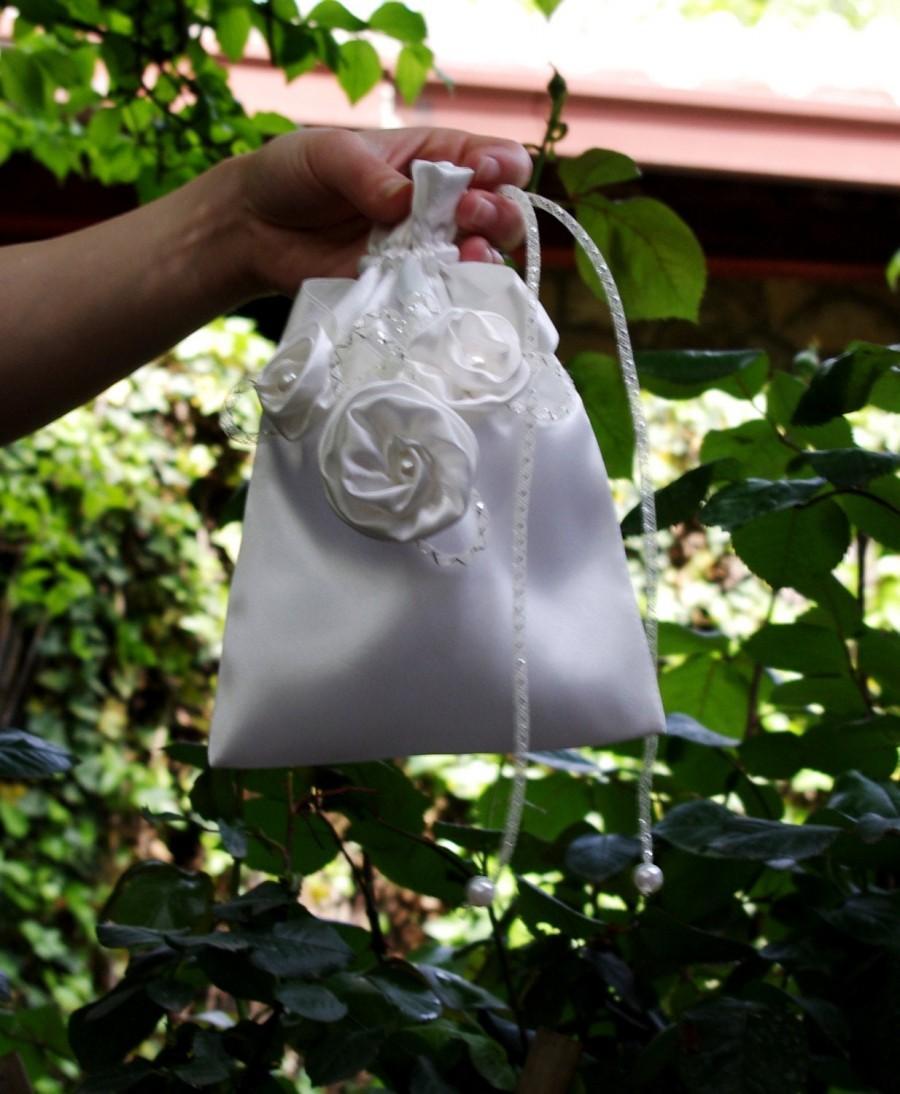 زفاف - Bridal Accessories Bridal Money Bag Flower Girl Pouch Bridal Purse Wedding Accessories Bridesmaid Bag