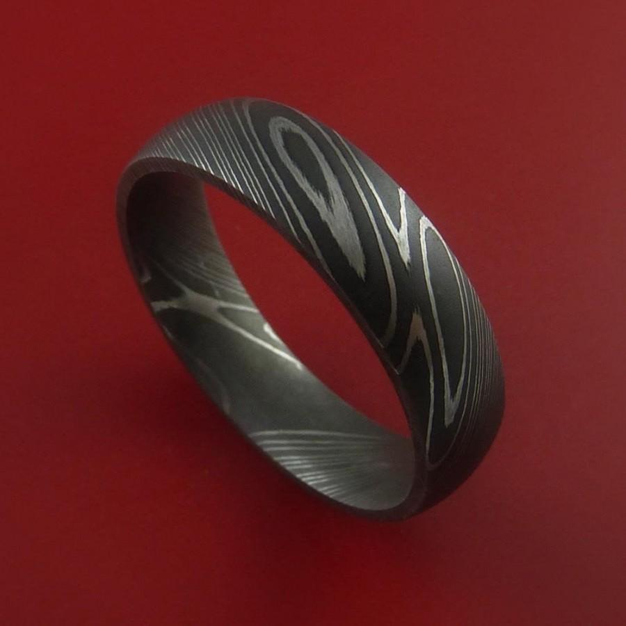 Wedding - Damascus Steel Ring handmade wedding band