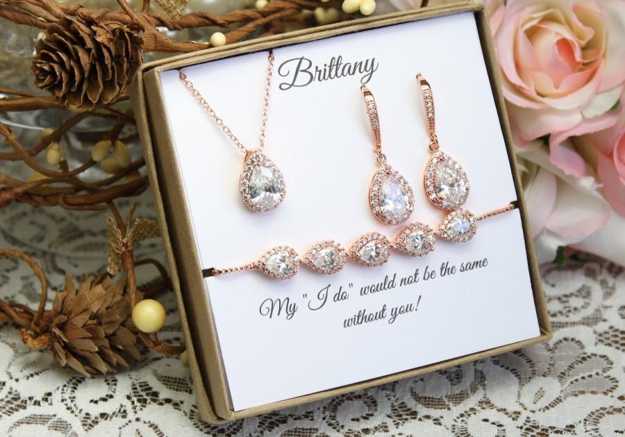 Свадьба - Custom color Bridesmaid gift set, Bridesmaid necklace bracelet earrings set, Bridesmaid necklace, Bridesmaid earrings, Wedding jewelry set