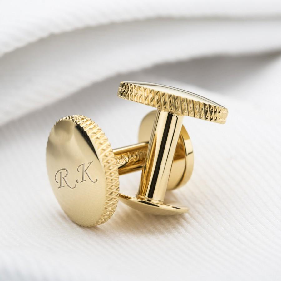 Mariage - Personalised Gold Cufflinks