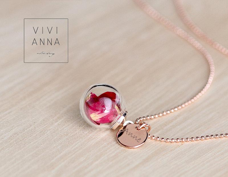 Mariage - Lovely necklace with roses · personalized gift - K471