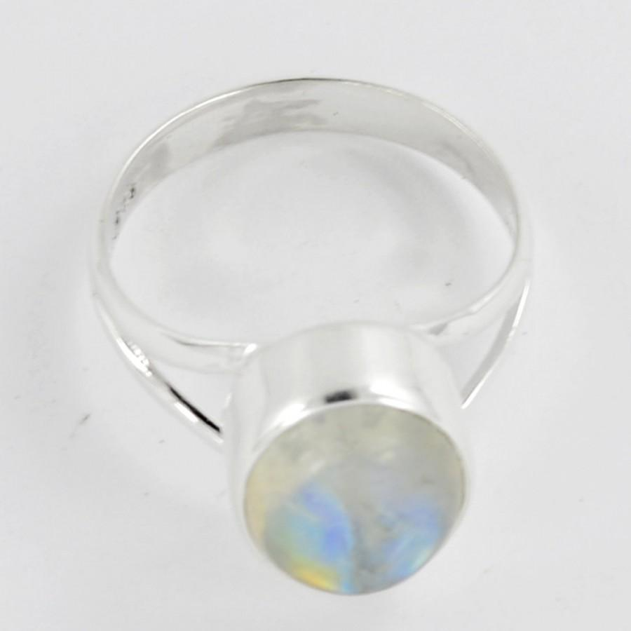 Свадьба - Moonstone Rings,Silver Sterling Ring,Natural Gemstone Jewelry,Solid 925 Sterling Silver Ring,Rainbow silver Ring Size All US 5 6 7 8 9 10