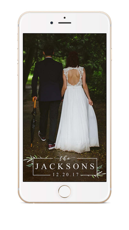 Wedding - Boho Wedding Snapchat Geofilter, Wedding Snapchat Filter, Wedding Snapchat Geofilter, Wedding Geofilter, Wedding Snapchat, Botanical, Green