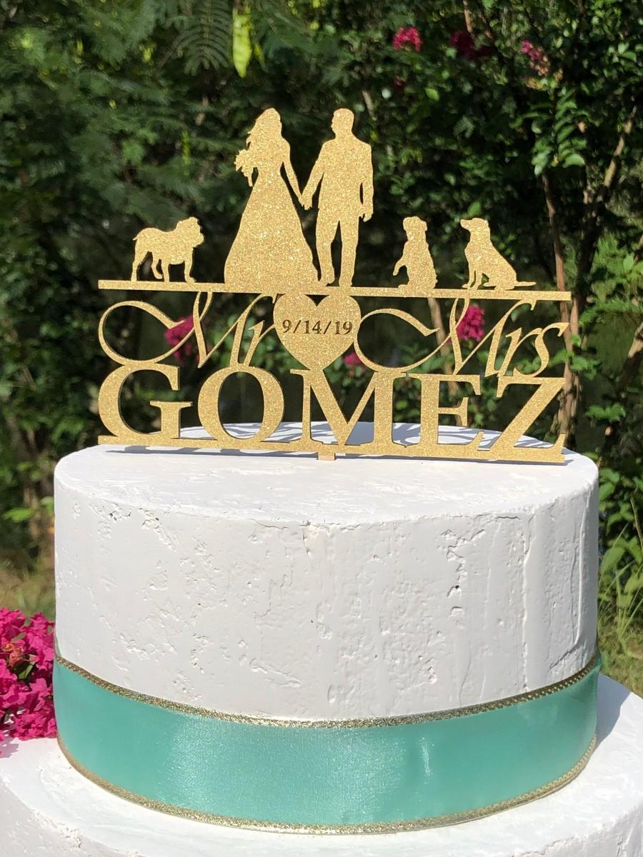 Mariage - Silhouette Wedding Cake Topper