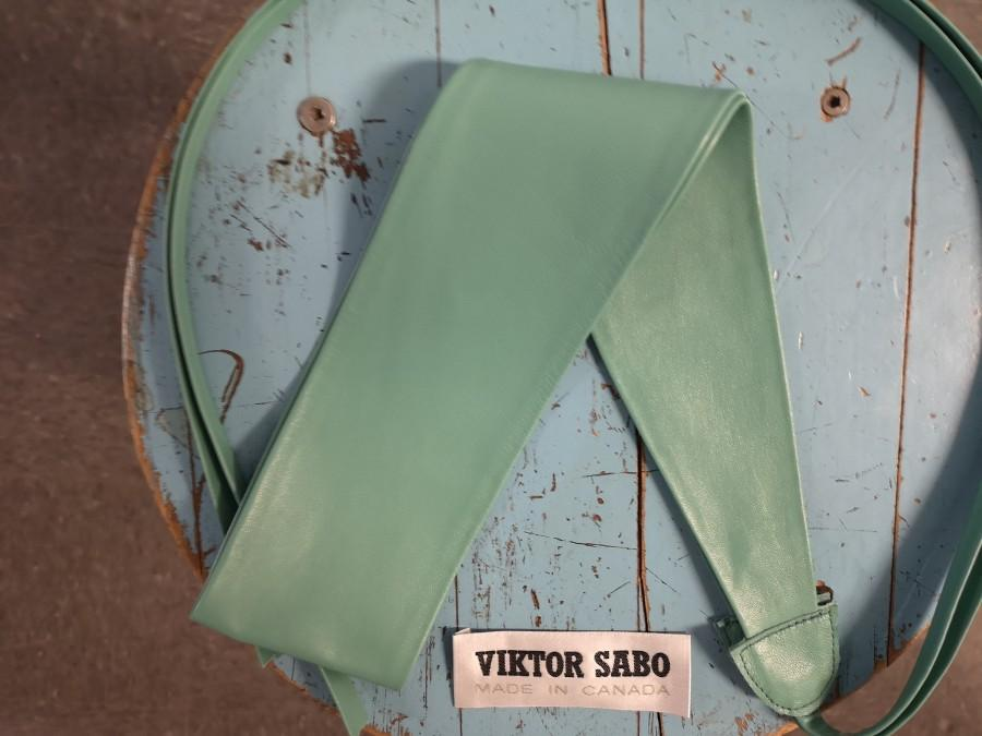 """Mariage - VIKTOR SABO Handmade Obi TURQUOISE Leather For Waistline Up To 28""""/71 cm Colors Available Great Gift Medium+"""