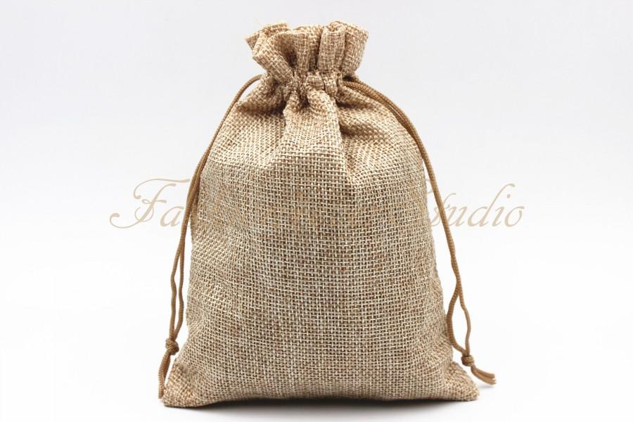 "Mariage - 10pcs Burlap Bags 4x5.25""/5x7"", Jewelry Bags, Gift Bags, Burlap Favor Bags, Jute Bags, Party Favor Bags, Wedding Gift Bags, Jute Favor Bags"
