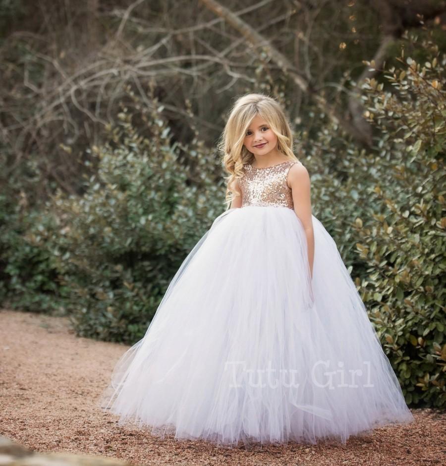 Wedding - Flower Girl Dress White Flower Girl Tutu Dress